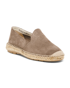 Made In Spain Flat Suede Espadrilles
