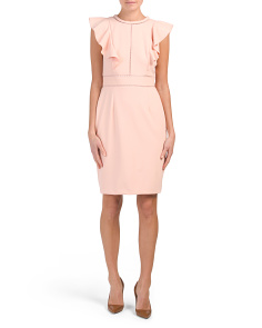 Crepe Dress With Ruffles