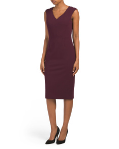Envelope Skirt Sheath Dress