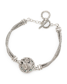 Made In Bali Sterling Silver Elephant Toggle Bracelet