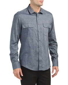 Double Chest Pocket Snap Sport Shirt