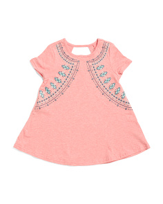 Little Girls Heathered Top