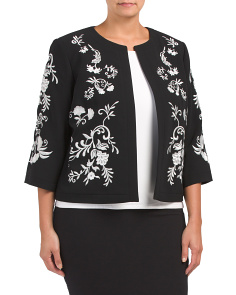 Plus Embroidered Jacket
