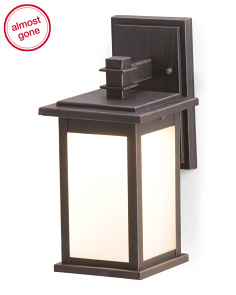 14.5in Outdoor Led Metal Sconce
