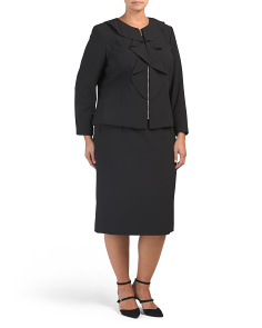 Plus 2pc Suit Skirt Set