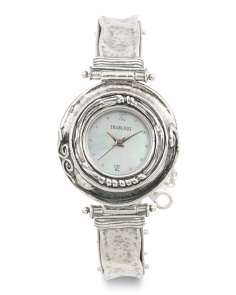 Women's Made In Israel Sterling Silver 20mm Watch