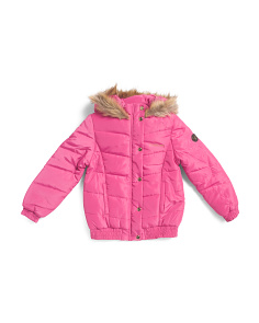 Big Girls Logo Puffer Jacket