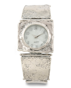 Women's Made In Israel Sterling Silver 22mm Watch