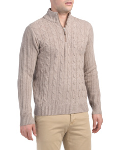 Made In Italy Wool Blend Cable Sweater