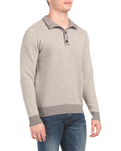 Made In Italy Mock Neck Wool Blend Sweater