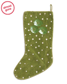 Made In India Sequin Flower Stocking