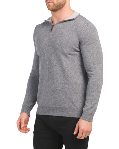 Made In Italy Quarter Zip Sweater