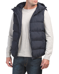Row Gilet Vest With Hood
