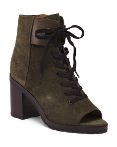 Lace Up Suede Bootie