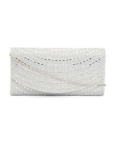 Curve Front Stone Clutch
