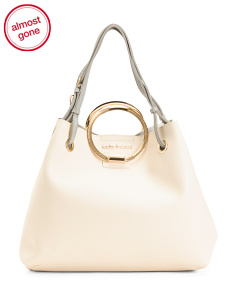 2pc Ring Handle Hobo With Crossbody