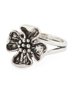 Made In Turkey Sterling Silver Flower Blossom Ring