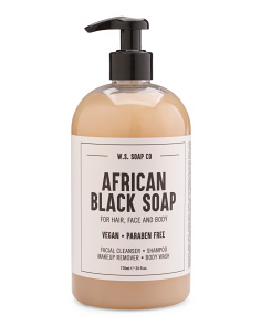 24oz Coconut African Black Soap