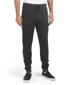 Fleece Marled Joggers With Tech Zip Pocket