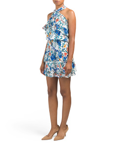 Printed Halter Dress