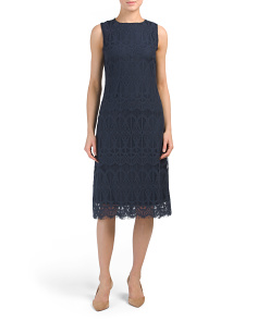 Italian Lace Sleeveless Dress