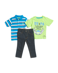 Toddler Boys 3pc Pant Set