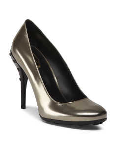 Made In Italy Leather Dress Pumps