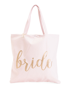Canvas Bride To Honeymoon Vibes Reversible Tote