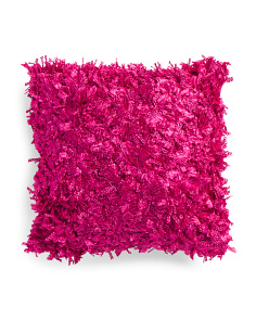Made In India 18x18 Hot Pink Textured Pillow