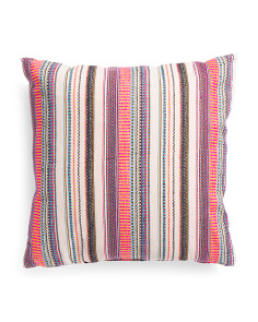 Made In India 20x20 Textured Stripe Pillow