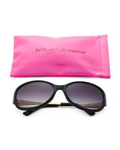 Oversized Sunglasses With Logo