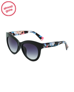 Oversized Sunglasses With Side Detail