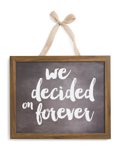 17x12 Forever Chalkboard Sign