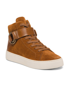 High Top Suede Sneakers