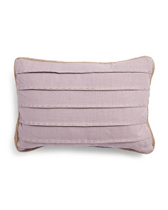 14x20 Pleated Linen Look Pillow