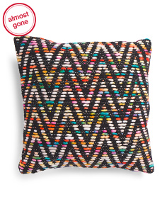 Made In India 18x18 Textured Multi Color Pillow