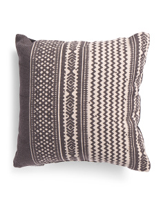 Made In India 20x20 Chevron Striped Pillow