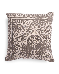 Made In India 20x20 Textured Medallion Pillow