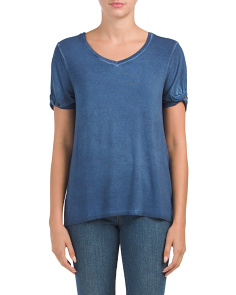 V-neck Boxy Top With Twist