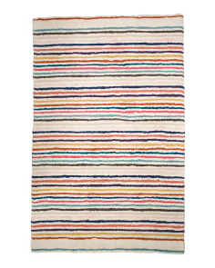 Made In India 5x8 Stripe Wool Rug