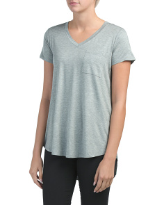 V-neck Hi-lo Tunic With Pocket