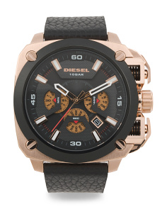 Men's Bamf Chrono Leather Strap Watch