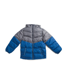 Big Boys Spacedye Print Puffer Jacket