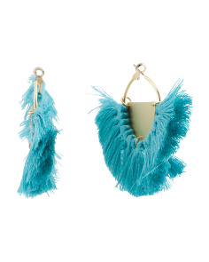 Fringe Shield Hoop Earrings