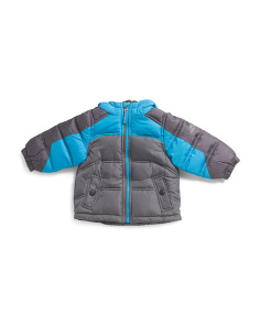 Infant Color Block Heathered Puffer Jacket