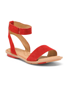 Comfort Ankle Wrap Flat Suede Sandals