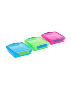 3pk Sandwich Box Container Set