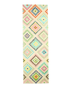 Kids Made In India 2x8 Geometric Runner