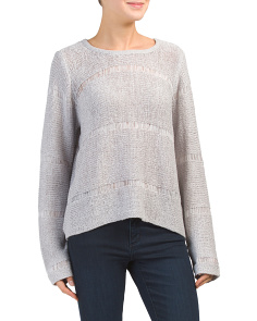 Open Stitch Lightweight Sweater