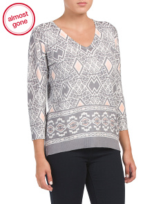Printed Pullover Sweater